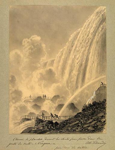 020- Camino de tablas delante de las cataratas para llegar a la gruta de los vientos- Niagara
