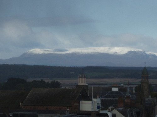 Snowcapped Ben Wyvis as seen from Inverness
