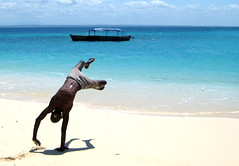 Jumping in Tanzania (danieleb80) Tags: africa blue sea tanzania boat jumping paradise mare blu spiaggia thecontinuum