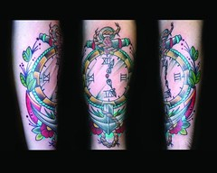 anchor and pocket watch tattoo (maliareynolds) Tags: atlanta clock time traditional rope tattoos anchor memorialtattoo maliareynolds femaletattooer atlantatattooer
