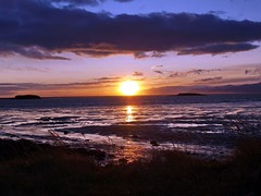 Sunset and sea (Svann) Tags: iceland potofgold hornafjrur mywinners