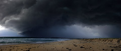 Beach Storm (ImageBud) Tags: summer cloud storm beach canon dark newcastle australia 400d blacksmithsbeach camdub
