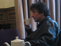 Neil Gaiman with cup