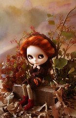 Leaf (erregiro) Tags: autumn sky leaves leaf outfit eyes doll handmade feel makeup lips carve mohair there blythe custom fts reroot erregiro