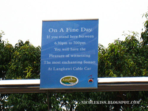one a fine day sign