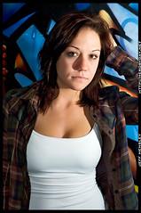 Ashleigh - Graffiti (herobyday) Tags: portrait cute girl graffiti model nikon d70 sb600 cls sb800 offcamera