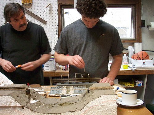 Dan and Nick Glueing