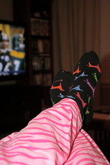 FUTAB and Football: Nov. 9, 2008 (SummerTX) Tags: television tv footballgame moosepants project365 yearthree nowayman futab feetuptakeabreak doggiesocks 314366