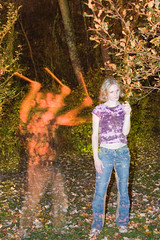 Ghostly Master Beater (Amarand Agasi) Tags: light motion blur painting fire amber woods with flash ghost sean master flame stick ghostly beater amarand theamarand