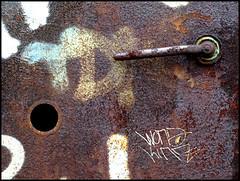 look through (sulamith.sallmann) Tags: door brown detail berlin rust hole decay rusty loch braun rost verrostet tr doorhandle rostig trklinke klinke sulamithsallmann