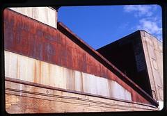 (andre dos santos) Tags: street nyc urban newyork film zeiss 35mm landscape rust industrial fuji harlem ma