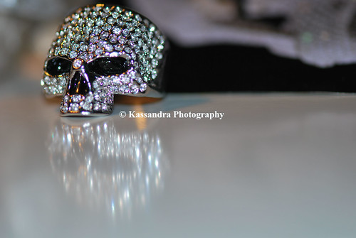 skull ring reflecting