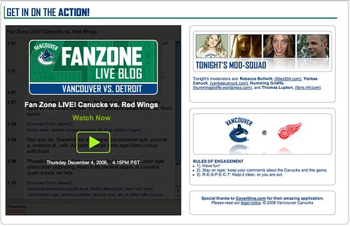 Official Canucks.com Liveblogging Dec 4, 2008