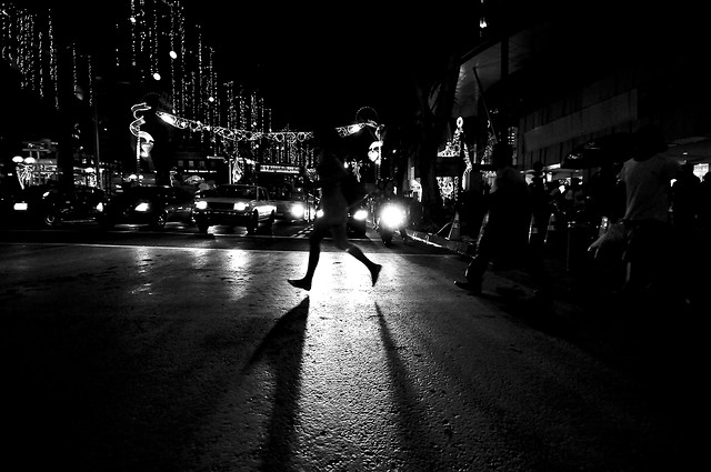 Pedestrian silhouette photographed by Danny Santos II