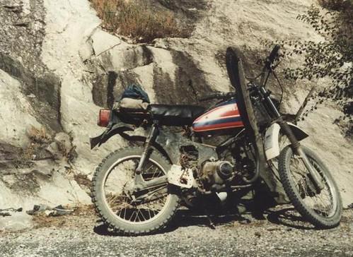 mountains alps bike honda offroad motorbike repair motorcycle exhaust c70 ss50