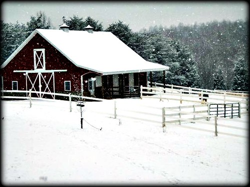 Mom's barn in winter
