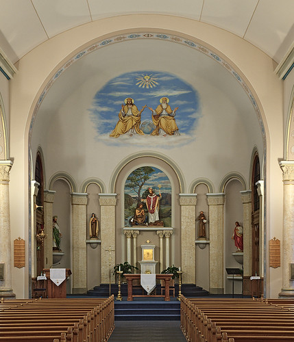 Saint Boniface Roman Catholic Church, in Germantown, Illinois, USA - sanctuary