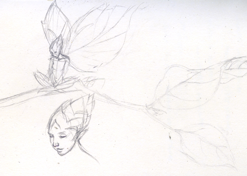 Leaf Fairy - Sketch