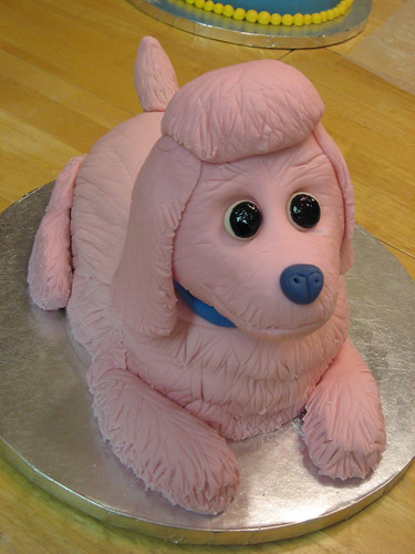 Fabulous Poodle Birthday Cake A Photo On Flickriver Funny Birthday Cards Online Aeocydamsfinfo