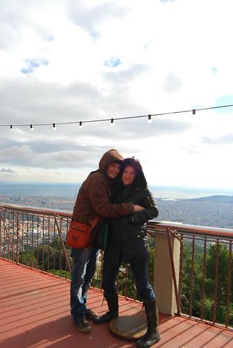 Pau i Vero en el Tibidabo