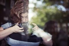 Tippy Toes (whitneybee) Tags: reflection window 50mm bokeh barefootcoffeeroasters flickrpeeps minimixr nurseynicole