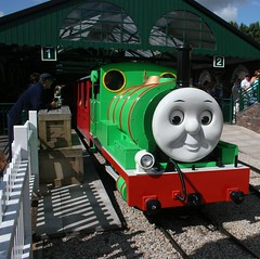 Thomas the Tank Engine Land (Heaven`s Gate (John)) Tags: england green smile face train fun ride fairground engine rails percy thomasthetankengine tamworth draytonmanorpark johndalkin heavensgatejohn thomasthetankengineland
