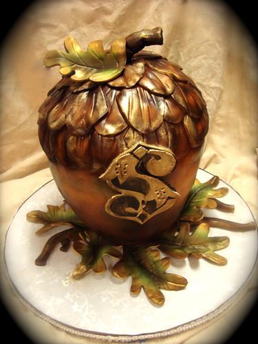steampunk acorn cake