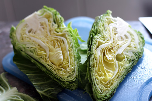 cabbage halves