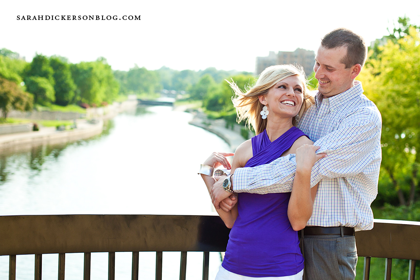 Country Club Plaza Kansas City engagement session
