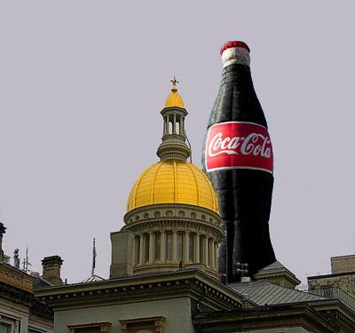 Trenton Statehouse and Giant Coke Bottle