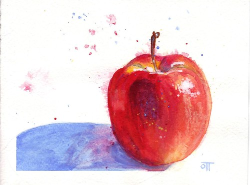 Yet another gouache apple