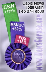 Cable News Ratings February 2008