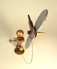 Satellite Kite Flying Robot Statue Scene out of Wood 3 (Builders Studio) Tags: wood fiction boy summer people sculpture kite man guy art classic statue metal trek toy person star robot fly flying wire punk comic technology geek mechanical tech metallic space painted satellite machine delta artificial scene science retro steam nasa replica ia figure scifi string pulp wars figurine base android prop diorama mecha droid geekery bot mech robo automaton steampunk robotic cyclon
