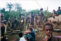 Male dancers at Land Jump (spencer_history) Tags: jump native tribes land indigenous vanuatu pentecost bunlop