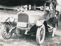 Sylvia (kevin63) Tags: 1920s woman car antique leg flags westvirginia flapper spencer sylvia lightner 1926 1927 runningboard durantstar