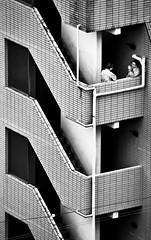 DSC_0081 (nrtphotos) Tags: shadow urban white black building men brick japan stairs contrast dark hotel tokyo office shinjuku asia cigarette bricks pipes smoking adobe cig orient 2008 listed lightroom