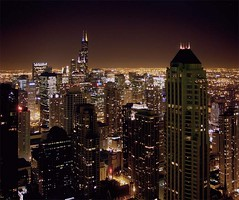 Chicago Night (doug.siefken) Tags: city urban chicago art skyline night painting geotagged lights photo moving still artwork long flickr downtown cityscape foto image doug cities favorites content images fluid uptown r fotos form douglas urbanscape streeterville urbanscapes nontraditional emergent citscapes chicagoan siefken dougsiefken douglasrsiefken justchicagoart