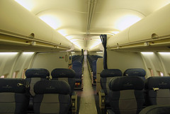 Delta Air Lines Boeing 757-2Q8 (N705TW) **New Cabin Interior** (Michael Davis Photography) Tags: atlanta airplane photography interior aviation delta boeing boeing757 b757 deltaairlines katl n705tw 757cabin