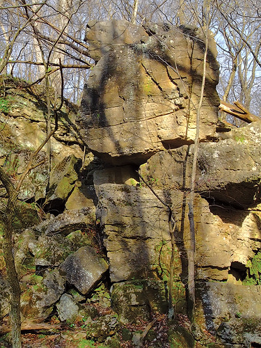 Rockwoods Reservation, in Saint Louis County, Missouri, USA - rocks