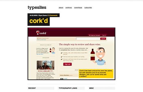 Typesites screenshot