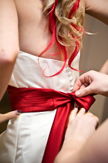 Beautiful (lishagisha) Tags: wedding sash gown applered decou