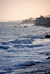 Stand by rocky shores (sjb5) Tags: ocean california waves dusk malibu pacificocean moonshadows flickrgolfclub