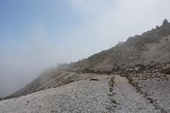 海霧が這い上がって来る