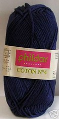 coton n4 phildar indigo 10 (lalainedelilso) Tags: tricot laine