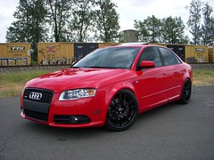 2007 Audi A4 on OZ Ultraleggeras (JeemyRegisteredTrademark) Tags: oz a4 audi titanium b7 quattro sline 20t ultraleggera brilliantred