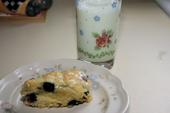 Blueberry Breakfast Scone before eating -- yum!
