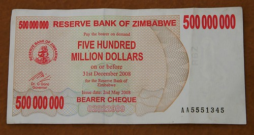Zimbabwe Cash - check out the expiration date!