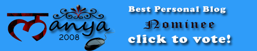 Manya Blogger Awards