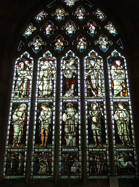 Stained glass by Burne-Jones