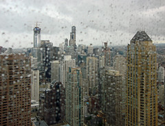 Chicago Skyline Weather (doug.siefken) Tags: city urban chicago art rain weather skyline architecture buildings john painting geotagged photo moving still flickr downtown cityscape foto place image searstower doug cities windy images uptown photograph r fotos trumptower hancock douglas johnhancock stills urbanscape streeterville chicagoskyline urbanscapes johnhancockcenter jhc citscapes chicagoan siefken dougsiefken douglasrsiefken